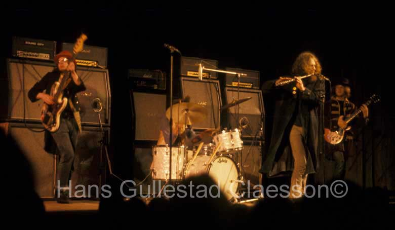 Jethro Tull is support band fir Jimi Hendrix Experience at Stockholm Konserthus 9/1/69.